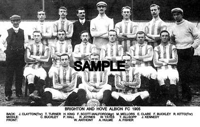 Brighton and Hove Albion FC 1905 Team Photo