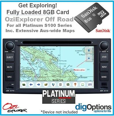 '.8GB Card Pre-loaded with Australia-wide Navigation Topographic Digital Map