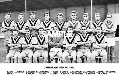Cambridge Utd FC 1963 Team Photo