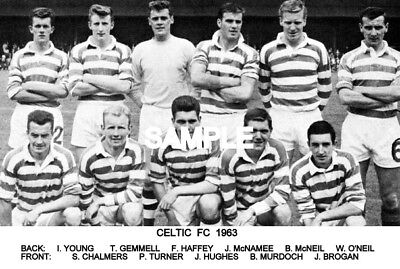 Celtic FC 1963 Team Photo