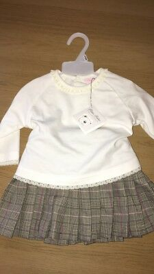 NEW 6/12 months 2 Piece Top and Skirt Baby Girl Pitter Patter