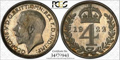 1922 Maundy Set - Pcgs 'secure' Graded Pl65/65/64/66
