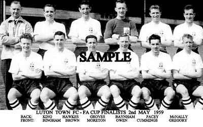 Luton Town FC 1958 Cup Team Photo