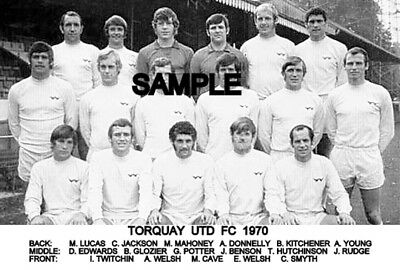 Torquay Utd FC 1970  Team Photo