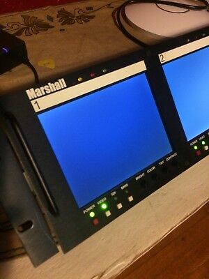 "Marshall Electronics V-R563P-SDI Triple 5.7"" Rack Mounted LCD Panels w/Adapter"