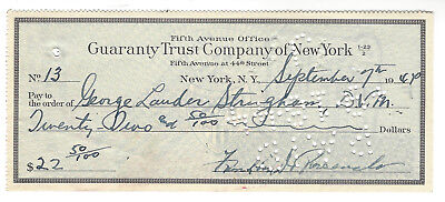 Franklin D. Roosevelt(Fdr) Signed Check When President 9/7/44 Great Association