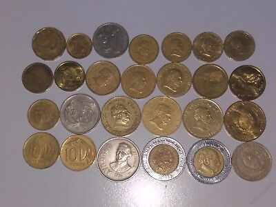 Uruguay lot of 26 coins all different years 1968-2014 1-50 peso+20 centesimos(m)