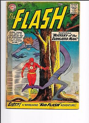 FLASH # 112, POOR CONDITION, 1st ELONGATED MAN STORY, 3rd KID FLASH STORY