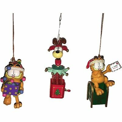 Lot of 3 Garfield and Odie Christmas Ornaments ENESCO '78 '83 & PAWS '95