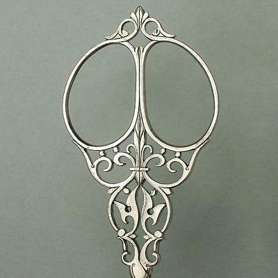 Fancy Antique Cut Steel Embroidery Scissors * French * Circa 1860