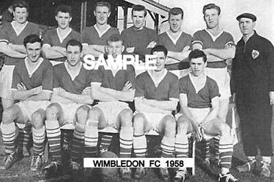 Wimbledon FC 1958 Team Photo