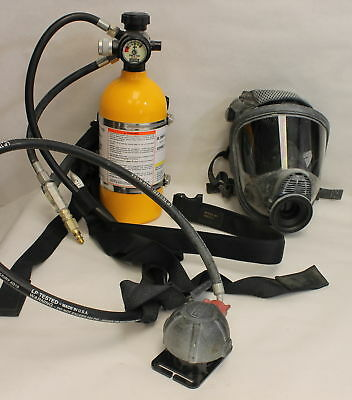MSA SCUBA AIR BREATHING Tank and Mask *LOCAL PICKUP ONLY*