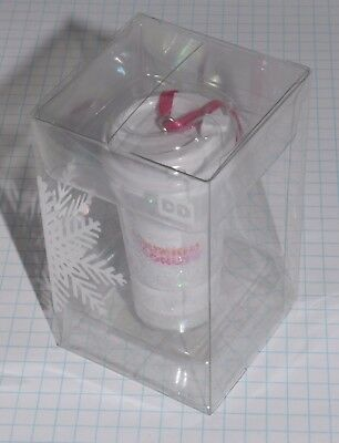 2016 Dunkin' Donuts Snow Globe Coffee Cup Holiday Christmas Ornament