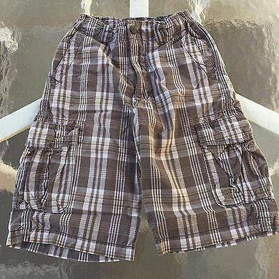 Urban Pipeline AWESOME BOYS Plaid Cargo Shorts Size 12 Regular, EXCELLENT!!