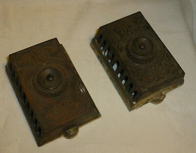 Partrick Carter & Wilkins Cast Iron Doorbell Buzzer Push Button 1890s Victorian