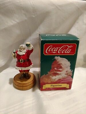 Vintage Coca Cola Santa Claus Figurine W-Box  From 1989 Christmas Happy Holidays