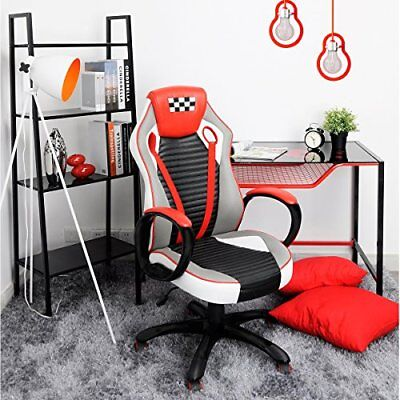 Gaming Chair Computer Desk Racing/Office High Back Seat PU Leather Ergonomic