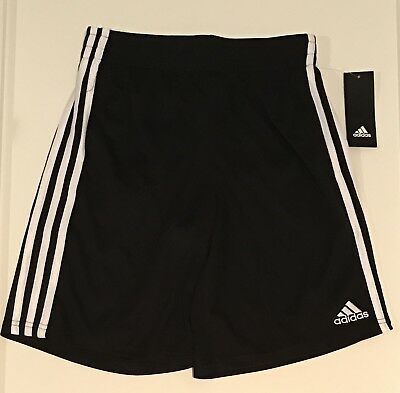 Adidas Gym Shorts Boys' M 10/12 Black White Basketball Shorts
