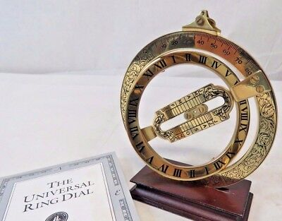 The Franklin Mint 1987 Universal Ring Dial Sundial w/ COA
