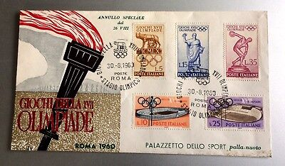 wonderful old FDC Italy Olympic Games Rome 1960