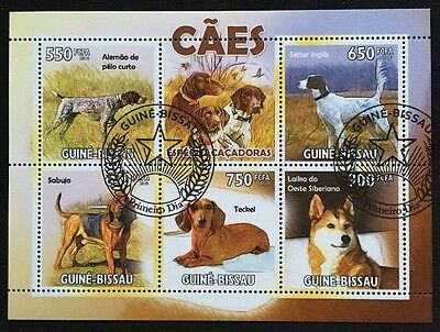 Hunde Dogs Chiens Animals Tiere Fauna Guinea-Bissau 2010 KB Sheet