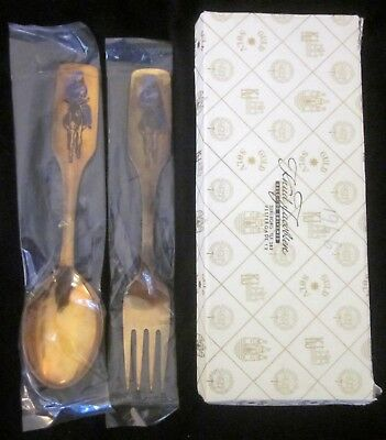 VTG A. MICHELSEN DENMARK STERLING 1966 JUL CHRISTMAS FORK & SPOON w/box, as is*