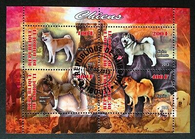 Hunde Dogs Chiens Animals Haustiere Tiere Fauna Djibouti 2013 KB Sheet
