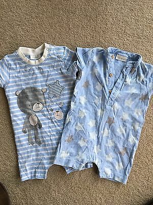 2 X Next Boys 000 Summer Short Sleeve Jumpsuits Clothes Bulk Bundle