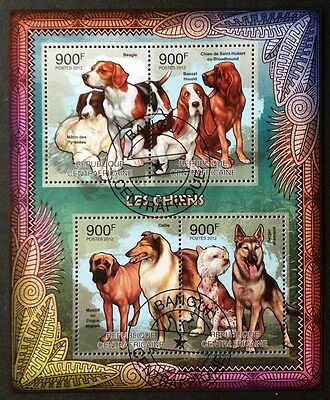 Hunde Dogs Chiens Animals Tiere Fauna Zentralafrika 2012 KB Sheet