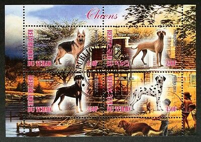 Hunde Dogs Chiens Animals Haustiere Tiere Fauna Tchad 2013 KB Sheet