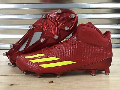 wholesale dealer bb993 a65d9 Adidas Adizero 5-Star 6.0 Mid Football Cleats Red Yellow SZ ( CG4248 )