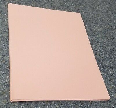 """25 Sheets of 8.5 X 11"""" 67lb. Pink Vellum Finish Craft or Copy Card Stock"""