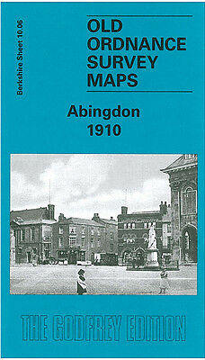 Old Ordnance Survey Map Abingdon Ock Street Bath Street Abdersey Island 1910