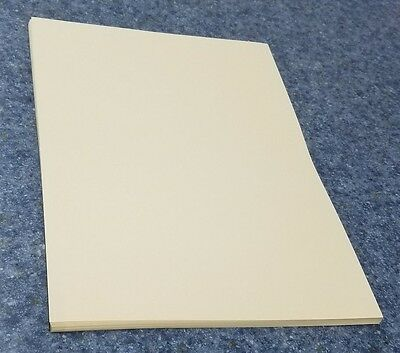 """25 Sheets of 8.5 X 11"""" 110lb. Ivory Smooth Finish Craft or Copy Card Stock"""