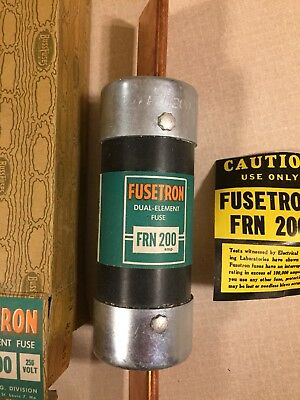 NEW IN BOX, Bussmann Fusetron FRN-200 Fuses 200Amp 250Volt FRN200 Dual Element
