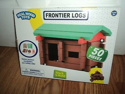 """REAL WOOD TOYS FRONTIER LOGS"" 50 PIECES NEW in box"
