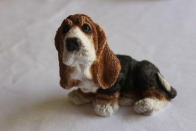 Basset Hound Dog Stone Critters Figurine SC-082 Made in USA Org Sticker