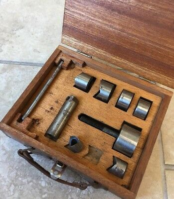 Vintage Lafayette Radio Shark Chassis Punch Set No. 110-E Sanki Tool Screwtype
