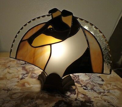 Stained Glass Dog Fan Lamp - Collie -Smooth - Black Tri