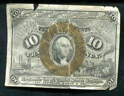 10 Ten Cents Second Issue Fractional Currency Note