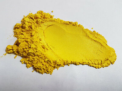 Cosmetic Mica for Soaps, Eye Shadow, Bath Bombs, Nails, French Mustard Yellow