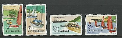 1983 Christmas Island Boat Club 25th Anniversary set 4 Complete MUH/MNH as issue