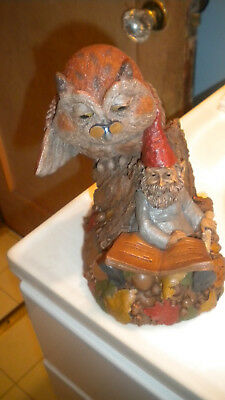 """Tom Clark WISE And WONDERFUL OWL & GNOME 1995 Wolfe 7 1/8 """" Tall"""
