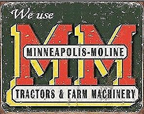 New Mps Moline 11 x 17 Laminated Poster We Use MM Tractors & Farm Machinery