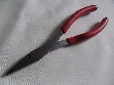 """Snap On Red Handle Duck Bill Pliers 61ACP Designed for electrical 7-3/4"""" long"""