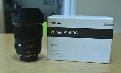 Sigma 20mm f/1.4 DG HSM Art Lens for Nikon