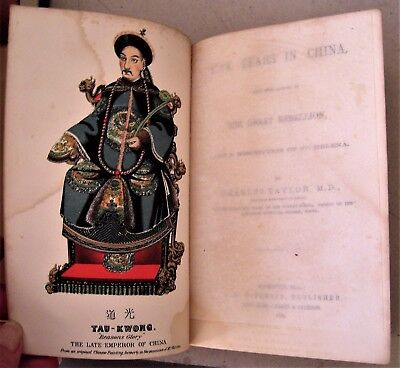 1860 book published in Nashville,Tennessee FIVE YEARS IN CHINA by Charles Taylor