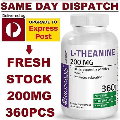 L-Theanine DOUBLE STRENGTH 200mg 90 Tabs PREMIUM BRAND - AUS STOCK FAST SHIP!