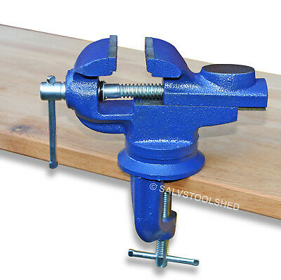 Portable Table Vice 50 mm 360° Swivel with Anvil Die Cast Iron Bench Vise Clamp