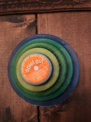 Grimm's Set of 5 Small Wooden Stacking & Nesting Rainbow blue trending at 50
